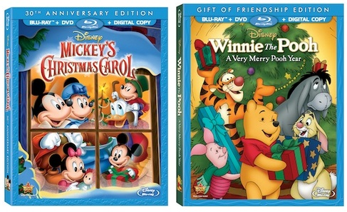 clips from mickey s christmas carol and winnie the pooh a very