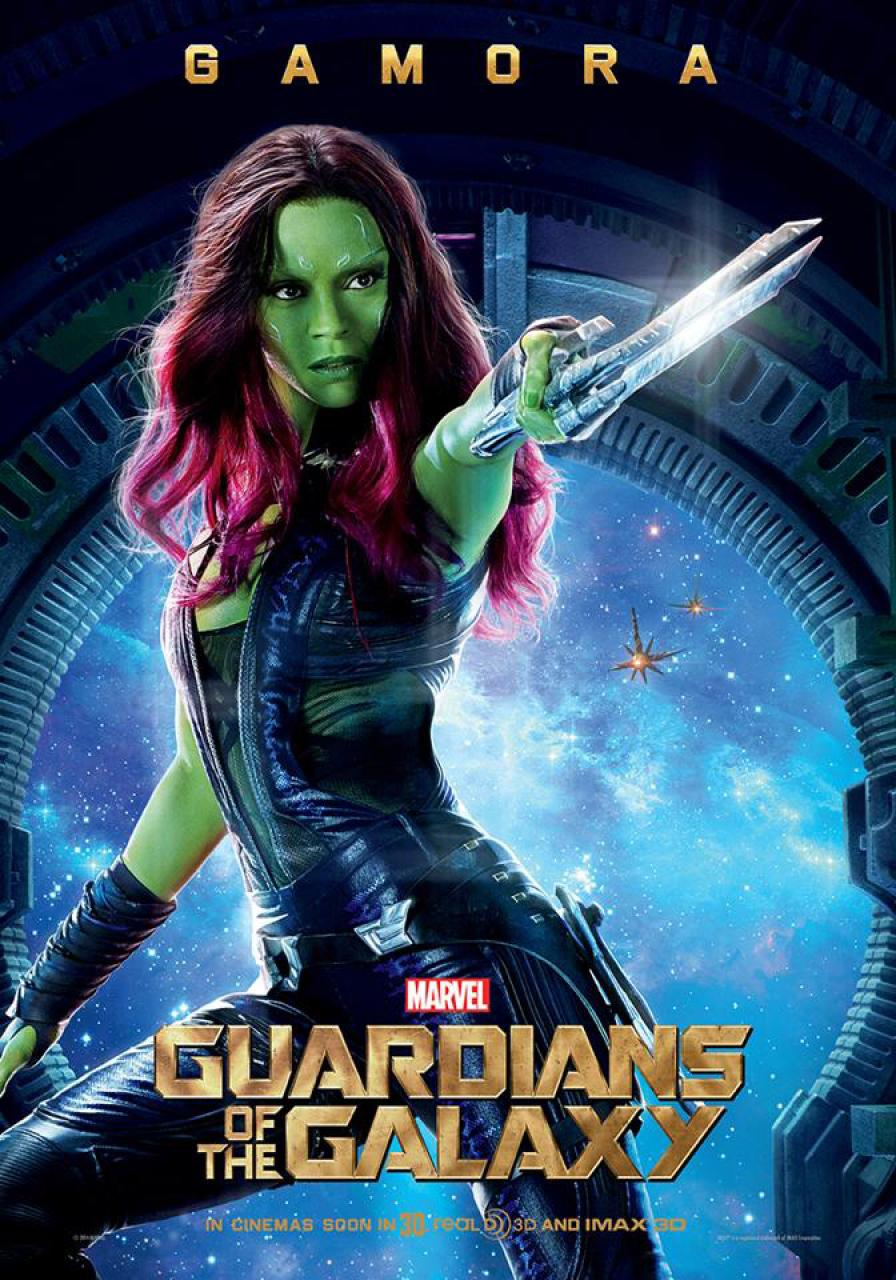 Guardians Of The Galaxy 2014 Gamora Guardians Of The Galaxy