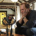 Awesome! Look At These Photos Of Director Brad Bird in awe of Mondo's 'The Iron Giant Figure'