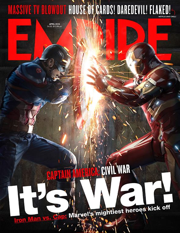 iron man vs cap in this empire s mag cover for captain america