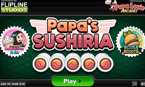 Papa's Sushiria: So Many Extras