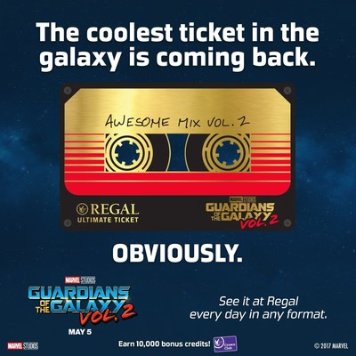 Regal Has Announced Marvel Studios Guardians Of The Galaxy Vol 2 Ultimate Ticket Which Is Out This World So Just Push Play And Purchase A