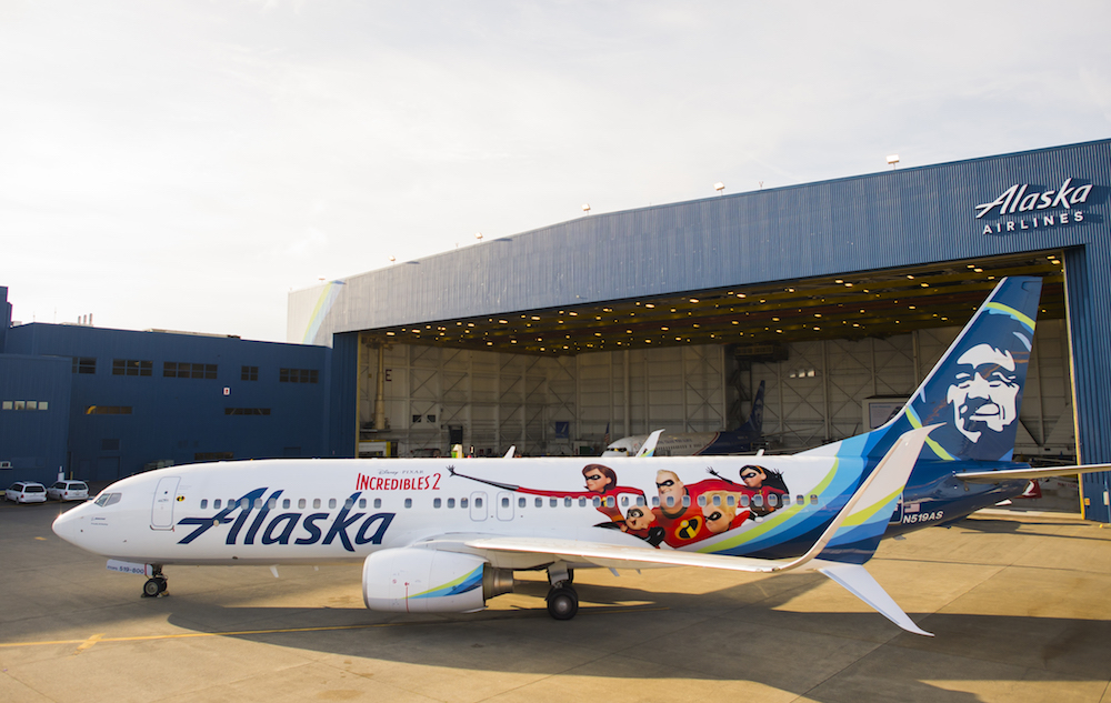 ahead of the highly anticipated release of disneypixars incredibles 2 on june 15 alaska airlines unveiled a special edition plane today