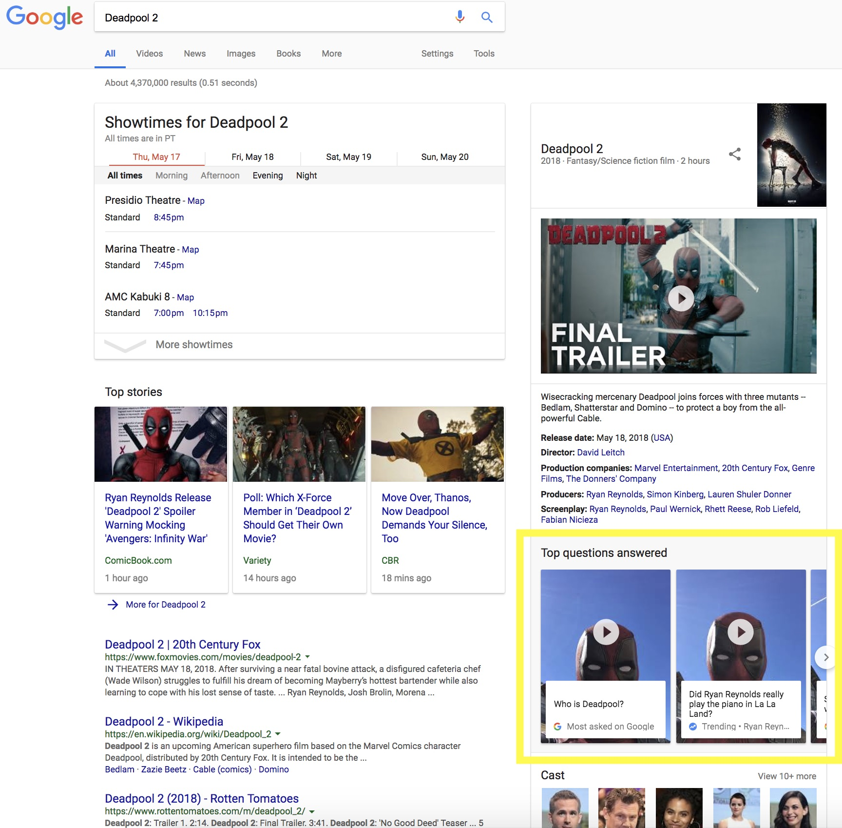 Hello! DEADPOOL Is Now Live on Google Search! | Rama's Screen