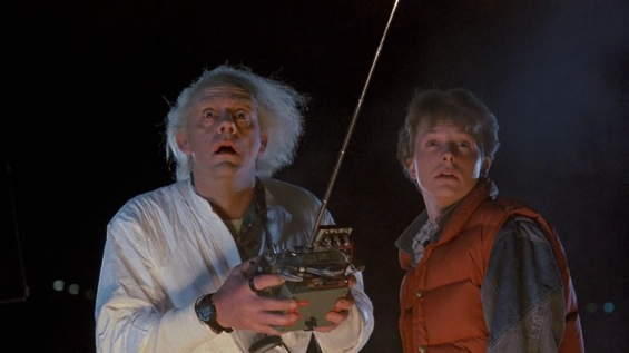 Okay, who the hell is doing this... Doc-Brown-Marty-McFly-Back-To-The-Future