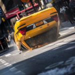 A Taxi Flips Over On The Set Of THE AMAZING SPIDER-MAN 2