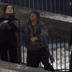 THE DARK KNIGHT RISES Set Photos: Anne Hathaway/Selina Kyle Fighting