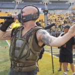 Look At Tom Hardy As Bane Ready For Some Football. Plus A Gazillion Set Videos Of THE DARK KNIGHT RISES