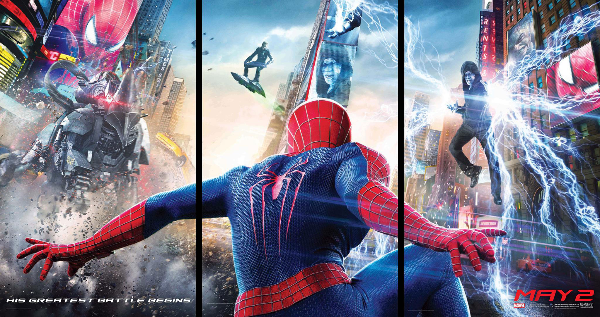 Here's A Better, Sharper Look At That AMAZING SPIDER-MAN 2 Triptych ...