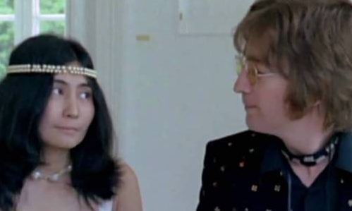 Image result for john lennon and yoko ono imagine